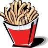 French Fries in a Carton clipart