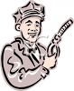 Vintage Gas Station Attendant clipart
