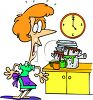 Housewife with Dirty Dishes clipart