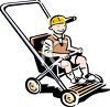Vintage Child in a Pram (Stroller) clipart