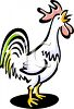 Rooster Crowing clipart