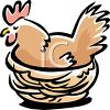 Hen in Her Nest clipart