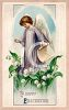 Victorian Happy Eastertide Greeting Card clipart