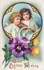 Victorian Best Easter Wishes Greeting Card clipart