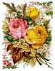Flowers and Leaves Victorian Clip Art clipart