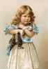 Victorian Girl and Her Cat clipart