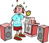 listening to music image