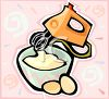 Mixing Batter with a Hand Held Mixer clipart