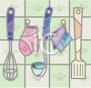 Cooking Utensils on a Wall clipart