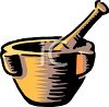 Mortar and Pestle clipart