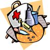 Medical Supplies-First Aid Kit clipart