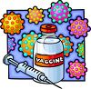 Vaccine and Hypodermic Needle clipart