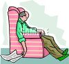 Man Sleeping in His Easy Chair clipart