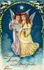 Victorian Christmas Card-Angels Singing clipart