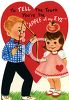 Vintage Valentine-Boy with a Crush clipart