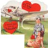 Vintage Valentine-Young Pilot with His Sweetie clipart