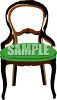 Carved, Antique Chair clipart