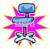 Task Chair with Casters clipart