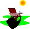 Lawn Chair on a Sunny Day clipart