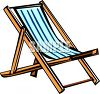 Canvas Beach Chair clipart