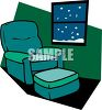 Chair Sitting by a Window in Winter clipart