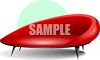 Red Vinyl Couch clipart