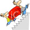 Men Moving a Couch Up Stairs clipart