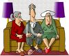 Old People Sitting on a Sofa clipart