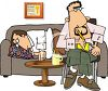 Psychiatrist with a Patient clipart