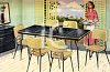 Modern 1950's Dining Room Set clipart