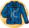 Long Sleeved Denim Shirt clipart