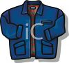 Casual Zippered Jacket clipart