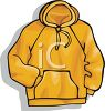 Yellow, Hooded Sweatshirt clipart