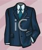 Suit Coat, Shirt and Tie clipart