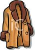 Womans' Coat with Fur Trim clipart