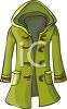 Hooded Coat for a Woman clipart