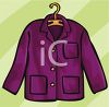 Woman's Coat on a Hanger clipart