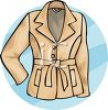 Ladies Belted Jacket clipart