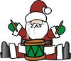 Santa Claus Playing a Drum Clipart clipart