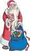 European Santa with a Bag of Toys Clipart clipart