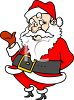 Cartoony Santa Claus Clipart clipart