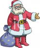 Santa Claus Wearing Glasses Clipart clipart