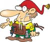 Toy Elf with His Tool Belt  clipart