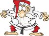Martial Arts Santa clipart