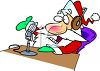 Santa Making a Radio Announcement clipart