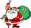 Pirate Santa clipart