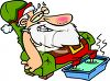 Santa the Day After Christmas clipart