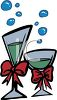 Champagne in Glasses clipart