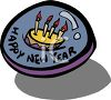 Happy New Year Button clipart