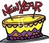 New Year Cake clipart